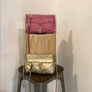 authentic Rebecca Minkoff leather crossbody purses